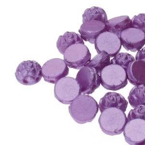 CZRCAB-25012 - Czech Rosetta 2-hole Cabochon 6mm - Pastel Lilac - 12 Count