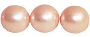 Round Beads 10mm: CZRD10-61203 Pearl - Soft Pink - 12 pieces
