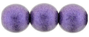 Round Beads 10mm: CZRD10-79021 - Metallic Suede - Purple - 12 pieces