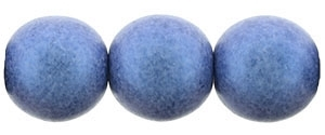 Round Beads 10mm: CZRD10-79031 - Metallic Suede - Blue - 12 pieces