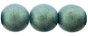 Round Beads 10mm: CZRD10-79051 - Metallic Suede - Light Green - 12 pieces