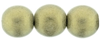 Round Beads 10mm: CZRD10-79080 - Metallic Suede - Gold - 12 pieces