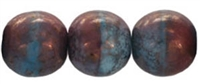 Round Beads 10mm: CZRD10-MD67713  - Moon Dust - Blueberry/Raspberry Swirl - 12 pieces