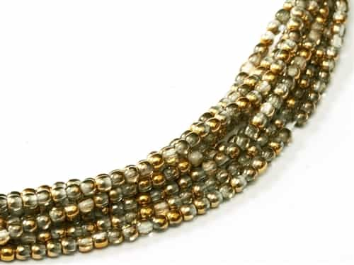 Czech Round Beads 2mm: CZRD2-00030-26441 - Crystal Amber - 25 Count