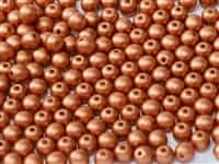 Czech Round Beads 2mm: CZRD2-02010-29410 -  Alabaster Metallic Bronze - 25 Count