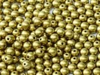 Czech Round Beads 2mm: CZRD2-02010-29418 -  Alabaster Metallic Olivine - 25 Count