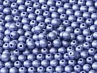 Czech Round Beads 2mm: CZRD2-02010-29425 -  Alabaster Metallic Lavender - 25 Count