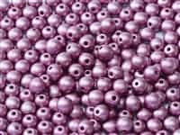 Czech Round Beads 2mm: CZRD2-02010-29428 -  Alabaster Metallic Magenta - 25 Count