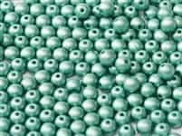 Czech Round Beads 2mm: CZRD2-02010-29455 -  Alabaster Metallic Teal - 25 Count
