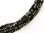 Czech Round Beads 2mm: CZRD2-23980-28001 - Jet Marea - 25 pieces