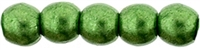 Czech Round Beads 2mm: CZRD2-77059 - ColorTrends: Saturated Metallic Kale - 25 pieces