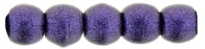 Czech Round Beads 2mm: CZRD2-79021 - Metallic Suede - Purple - 25 pieces