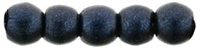 Czech Round Beads 2mm: CZRD2-79032 - Metallic Suede - Dark Blue - 25 pieces