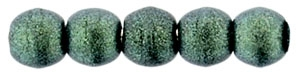 Czech Round Beads 2mm: CZRD2-79051 - Metallic Suede - Light Green - 25 pieces