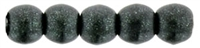 Czech Round Beads 2mm: CZRD2-79052 - Metallic Suede - Dark Forest - 25 pieces