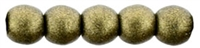 Czech Round Beads 2mm: CZRD2-79080 - Metallic Suede - Gold - 25 pieces