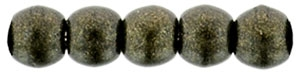 Czech Round Beads 2mm: CZRD2-79082 - Metallic Suede - Dark Green - 25 pieces