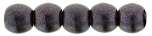 Czech Round Beads 2mm: CZRD2-79083 - Metallic Suede - Dark Plum - 25 pieces