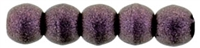 Czech Round Beads 2mm: CZRD2-79086 - Metallic Suede - Pink - 25 pieces