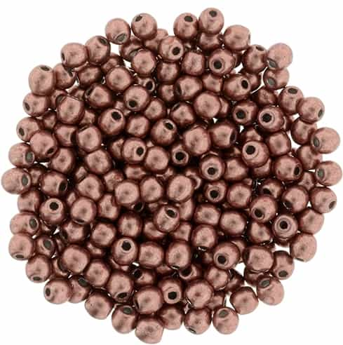 Round Beads 3mm: CZRD3-04B01 - ColorTrends: Saturated Metallic Grenadine - 25 pieces