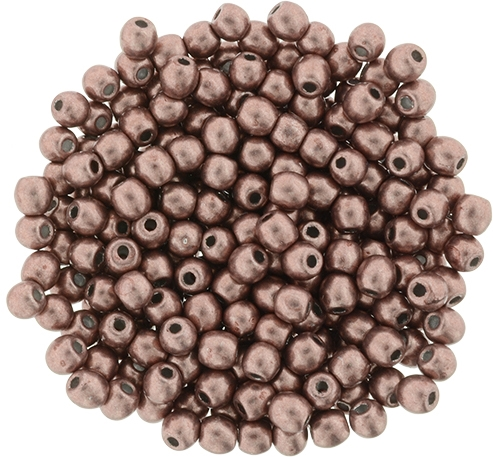 Round Beads 3mm: CZRD3-04B04 - ColorTrends: Saturated Metallic Butterum - 25 pieces
