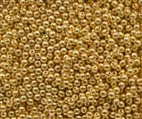 Round Beads 3mm: CZRD3-270  - 24KT Gold Plated - 25 pieces