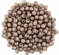 Round Beads 3mm: CZRD3-77057 - ColorTrends: Saturated Metallic Pale Dogwood - 25 pieces