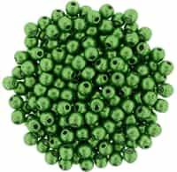 Round Beads 3mm: CZRD3-77059 - ColorTrends: Saturated Metallic Kale - 25 pieces