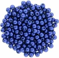 Round Beads 3mm: CZRD3-77065 - ColorTrends: Saturated Metallic Lapis Blue - 25 pieces