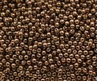 Round Beads 3mm: CZRD3-90215  - Bronze - 25 pieces