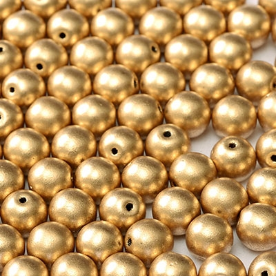 Round Beads 3mm: CZRD3-K0171  - Aztec Gold - 25 pieces