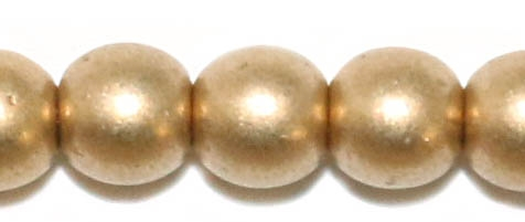 Round Beads 4mm: CZRD4-01710 - Aztec Gold - 25 pieces