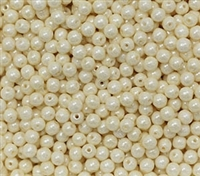 Round Beads 4mm: CZRD4-03000-14401 - Chalk White Cream Luster - 25 pieces