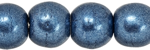 Round Beads 4mm: CZRD4-07B02 - ColorTrends: Saturated Metallic Bluestone - 25 pieces