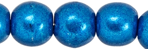 Round Beads 4mm: CZRD4-07B03 - ColorTrends: Saturated Metallic Galaxy Blue - 25 pieces