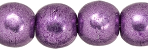Round Beads 4mm: CZRD4-07B06 - ColorTrends: Saturated Metallic Grapeade - 25 pieces