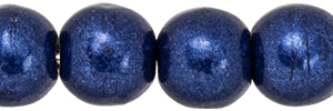 Round Beads 4mm: CZRD4-07B07 - ColorTrends: Saturated Metallic Evening Blue - 25 pieces