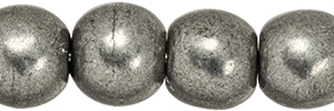 Round Beads 4mm: CZRD4-07B08 - ColorTrends: Saturated Metallic Frost Gray - 25 pieces