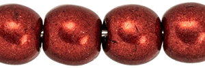 Round Beads 4mm: CZRD4-07B10 - ColorTrends: Saturated Metallic Merlot - 25 pieces