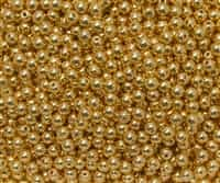 Round Beads 4mm: CZRD4-270 - 24K Gold Plated - 25 pieces