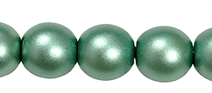 Round Beads 4mm: CZRD4-70555 - Opaque Matte Sea Foam Green - 25 pieces