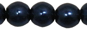 Round Beads 4mm: CZRD4-78039 - Dark Blue - 25 pieces