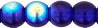 Round Beads 4mm: CZRD4-X3009 - Cobalt AB - 25 pieces