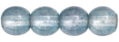 Round Beads 6mm: CZRD6-14464  - Luster - Transparent Blue - 25 pieces