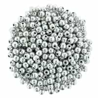 Round Beads 6mm: CZRD6-27000  - Silver - 25 pieces