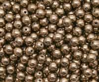 Round Beads 6mm: CZRD6-90215  - Bronze - 25 pieces