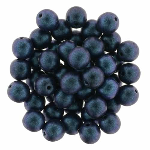 Round Beads 6mm: CZRD6-94105  - Polychrome - Indigo Orchid - 25 pieces