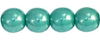 Round Beads 6mm: CZRD6-L6313  - Luster - Turquoise - 25 pieces