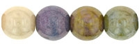 Round Beads 6mm: CZRD6-P10  - Opaque Luster Mix - 25 pieces