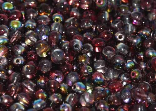 Round Beads 8mm: CZRD8-00030-95200 - Magic Wine - 25 pieces